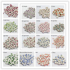 10pcs Charm Ceramic Round Porcelain Loose Spacer Big Hole Beads Jewelry 8-12mm
