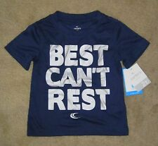 """NWT Boys CARTERS Active """"Best Can't Rest"""" Silky Navy Blue T-shirt - size 6"""