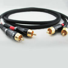 M82 High End Pair(2pcs) RCA Choseal 4N-OFC HIFI Audio Cables 7in-33ft