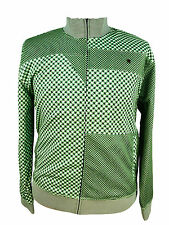 RSRV by Enyce Track Jacket Mens Houndtooth 183 Coat Green Athletic 2XL