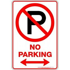 Safety Sign - NO PARKING P SPAN ARROW