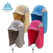 Summer Outdoor Face Neck Flap Sun UV Protection Hiking Fishing Hat Cap Folding