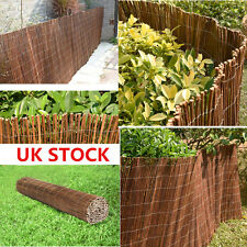 Panana Wooden Willow Screening Roll Garden Screen Fencing Fence Panel Outdoor 4M
