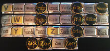 "Name Charms Starting w/ Letter ""V, W, Y, & Z""  9MM Stainless Steel Italian Charm"