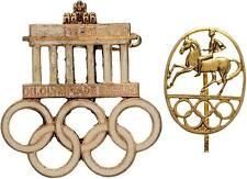 MEDAL - GERMANY TWO BADGES - OLYMPIC GAMES BERLIN 1936  # 0004