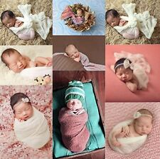 Newborn Baby Photography Photo Props Stretch Wrap Knit Baby Swaddle Wrap Blanket