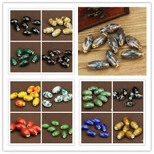10pcs Mixed Floral Ceramic Porcelain Loose Spacer Beads for Jewelry Making Craft