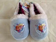 Frozen Girls Slippers Disney Choose  Youth Size 11-12, 13-1, 2-3 Blue NWT