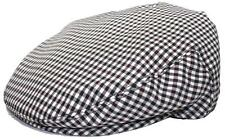 Men's Plaid Golf Summer flat Ivy Driving Cabbie Newsboy Cap Hat Black