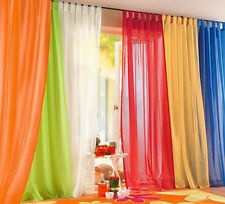 Sheer Curtain Drape Window Curtain Voile Home Decor Tap Top 140*245 Cm