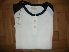 MENS SELECTED HOMME L/S ROUND NECK T SHIRT TOP CREAM BLACK XLARGE RRP £22 BNWT