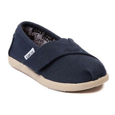 TOMS Classic Tiny Navy Velcro Canvas Shoes