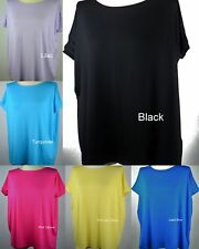 S-M-L ON SALE  NEW Piko Slouchy Short Sleeve Bamboo Tops - Many Colors T2195