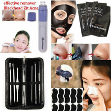 Face Pig Nose Mask Mud Blackhead  Electric Acne Tweezer Remover Pore Clear Kit