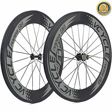 2017 23mm Width 88mm Deep Clincher Wheels 700C Carbon Road Bike Bicycle Wheelset