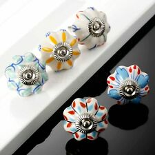 Pumpkin Kitchen Cabinet Knobs Flower Drawer Ceramic Dresser Closet Pulls Handles