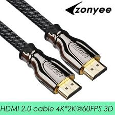 Zonyee HDMI Cable High Speed 2.0 Version 3D 4K 60FPS cable for HD TV LCD PS3 Pro
