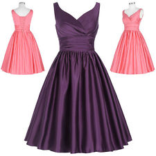 50s Vintage Mother Bridesmaid Cocktail Ball Gown Evening Prom Formal Party Dress