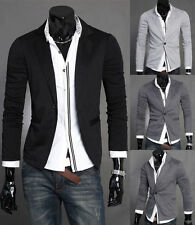 Stylish Mens Casual Slim Fit Formal One Button Suit Blazer Coat Jacket Tops hf18