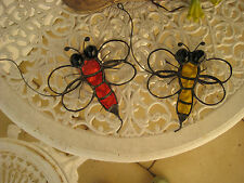leadlight suncatcher - bee- stained glass-yelllow & clear or orange & clear