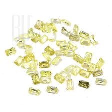 Peridot Color Cubic Zirconia AAA Quality Calibrated Size Octagon Shape gemstones