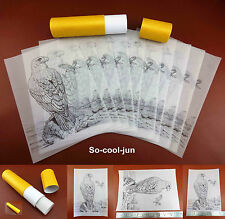 2kinds Leathercraft Carve Draw Falcon Pattern Transparent Tracing Paper Template