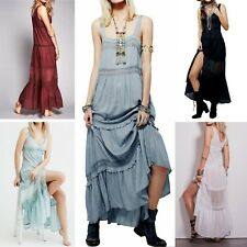 Women Summer BOHO Maxi Long Casual Dress BEACH COTTON Sundress| 2 day shipping