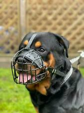 Strong Metal Wire Rubber Basket Dog Muzzle Rottweiler Mastiff