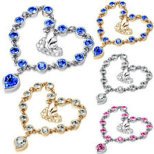 Crystal Heart Bracelet Women Hot Sale Jewelry Rhinestone Chain r