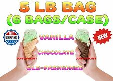 5 Lb Bakery Ice Cream Restaurant Vanilla Chocolate Waffle Cone Mix, 6 Bags/Case