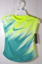 NWT GIRLS KID NIKE DRI-FIT VOLT YELLOW SHORT SLEEVE CREW T SHIRT SZ 4T 5 6 6X