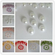 500pcs 8mm Half Round Flatback Pearls Beads Scrapbook Embellishment Craft DIY