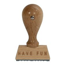 Bütic Fun Wooden stamp V2 / Fun stamp HS4010 with Lettering or Custom text