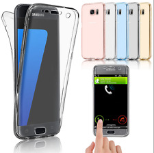 360° Shockproof Silicone Protective Clear Case Cover For Samsung Galaxy Phones
