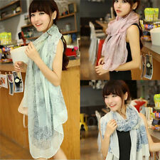 Women Girls Fashion Pretty Long Soft Chiffon Scarf Wrap Shawl Stole Scarves