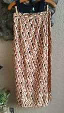 FLAX Rayon BUTTON WRAP Skirt Beach Coverup GOLD DECO - P, S, L - NEW