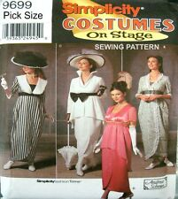 Simplicity Sewing Pattern 9699 Ladies 6-12 My Fair Lady Titanic History Costume