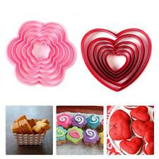 DIY Heart Flower Cake Cookie Biscuit Cutter Stamp Mold Fondant Xmas Decorating