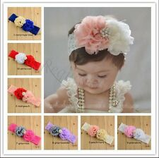 Cute Kids Baby Girl Toddler Lace Flower Headband Hair Band Headwear Accessories