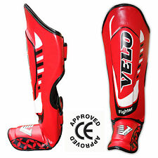 VELO Kids Shin Guard Pads MMA Leg Foot Junior Guards Muay Thai Kick Boxing mma