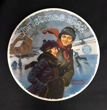""">Ltd Ed Collector Plate NORMAN ROCKWELL """"Christmas Courtship 1982"""" w/Cer KNOWLES"""