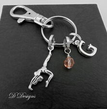 Gymnast Bag Charm, Personalised Gymnastic Keyring