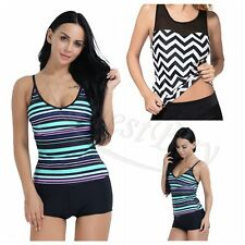 2017 Sexy Women Sporty Tankini sets with Boy Shorts Swimwear Two Piece Swimsuit