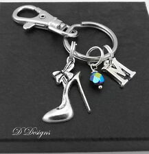 Shoe Bag Charm, Personalised Shoe Keyring
