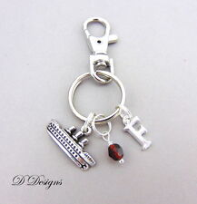 Ship Bag Charm, Personalised Ship Keyring