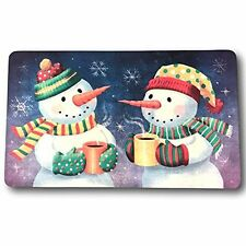 Cushion Comfort Mat Winter Snowmen Xmas Holiday Kitchen Anti-Fatigue Foam IR