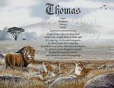Personalised Father Gift, Dad Birthday Gift, Personalised Gifts For Dad Lions