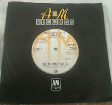 "Sex Pistols God Save The Queen RARE A&M issue 7"" single"
