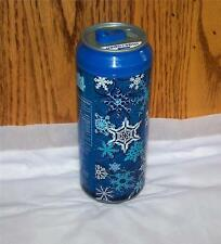 """Cool Gear Soda Can 16 oz Blue """"Snow Squall""""  Can Travel Cup spill proof slider"""