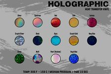 "Holographic Heat Transfer Vinyl 20"" x 5 Yards"